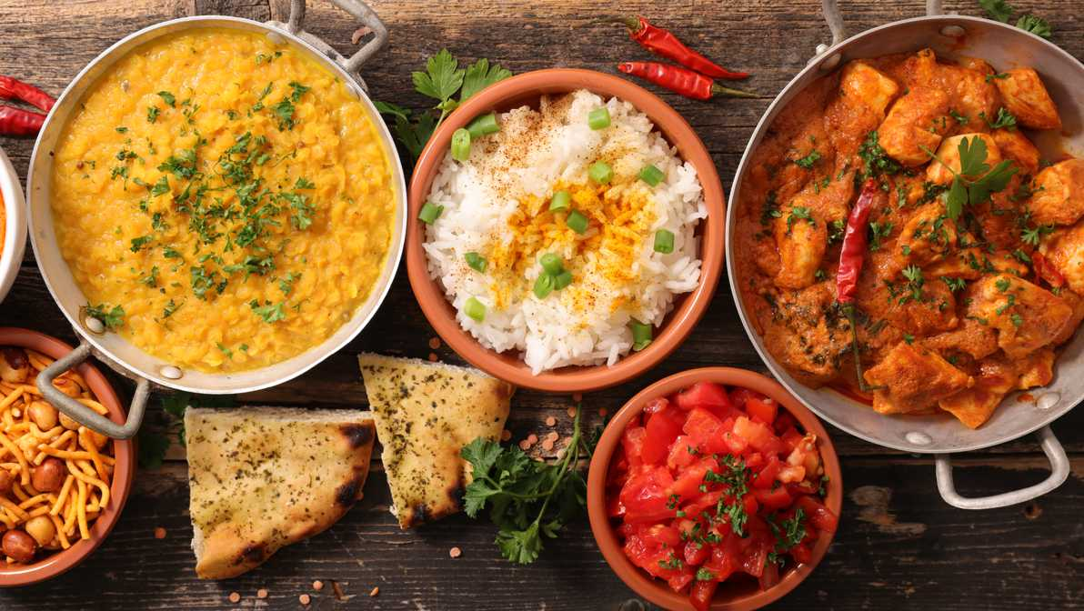 variety of indian foods